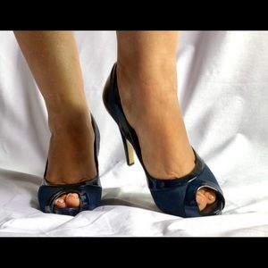 High heels peep toe shoes